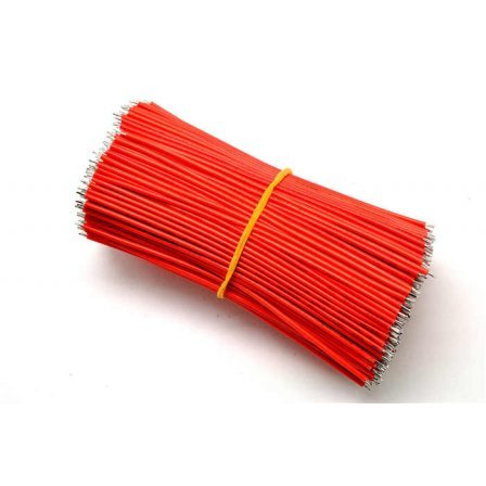 Коннектор 100mm UL1007 AWG22# connector wire cable Red
