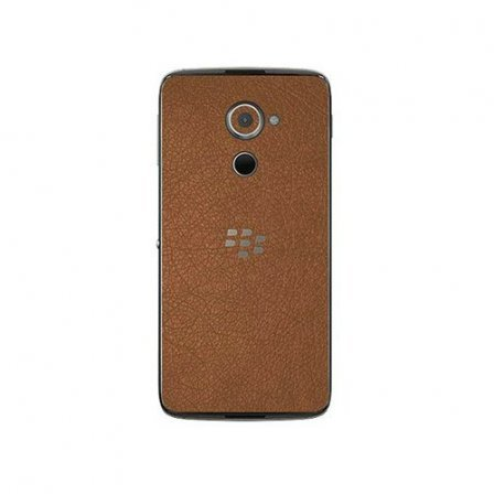 Виниловые наклейки BlackBerry DTEK60 Brown leather back skin