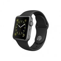 Apple Watch Sport 38mm Space Gray Aluminum Case with Black Sport Band (MJ2X2)