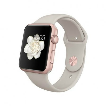 Apple Watch Sport 42mm Rose Gold Aluminum Case with Stone Sport Band (MLC62)