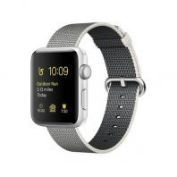 Apple Watch Series 2 38mm Silver Aluminum Case with Pearl Woven Nylon Band (MNNX2)