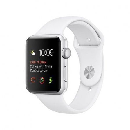 Apple Watch Series 2 42mm Silver Aluminum Case with White Sport Band (MNPJ2)