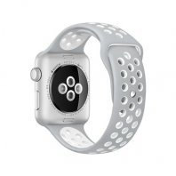 Apple Watch Nike+ 38mm Silver Aluminum Case with Silver/White Nike Sport Band ( MNNQ2)