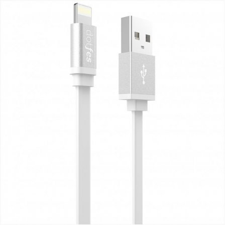 Кабель Dotfes Lightning to USB A05 Colorful Noodles White для IPhone