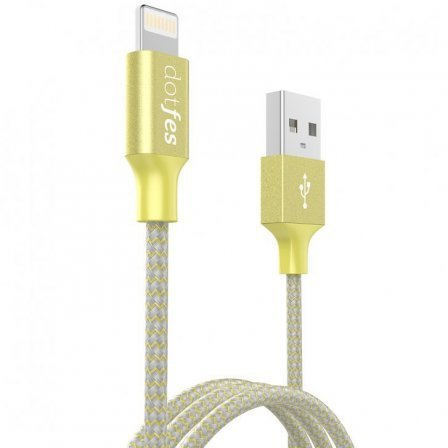 Кабель Dotfes Lightning to USB A06 Dual Tone Color Yellow для IPhone.